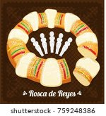 rosca de reyes  three kings... | Shutterstock .eps vector #759248386