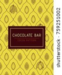 cocoa seamless pattern.... | Shutterstock .eps vector #759251002