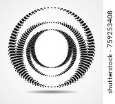 halftone dots in circle form.... | Shutterstock .eps vector #759253408