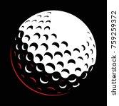 golf ball vector on dark... | Shutterstock .eps vector #759259372