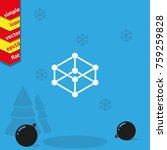 wireframe mesh polygonal... | Shutterstock .eps vector #759259828