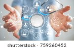 businessman on blurred... | Shutterstock . vector #759260452