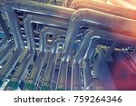 equipment  cables and piping as ... | Shutterstock . vector #759264346