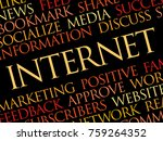 internet word cloud collage ... | Shutterstock . vector #759264352