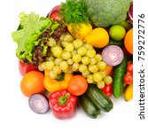 collection fresh of fruits and...   Shutterstock . vector #759272776