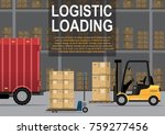 the loader loads or unloads the ... | Shutterstock .eps vector #759277456