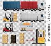 logistics. elements of logistic ... | Shutterstock .eps vector #759277462