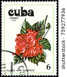 cuba   circa 1978  a stamp ...   Shutterstock . vector #759277936
