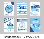 winter social media sale... | Shutterstock .eps vector #759278476