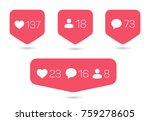 set of templates of counter... | Shutterstock .eps vector #759278605