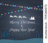 christmas lights abstract... | Shutterstock .eps vector #759280072