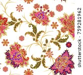 seamless pattern. golden... | Shutterstock . vector #759281962