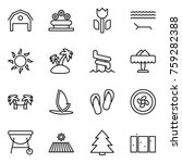 thin line icon set   barn ... | Shutterstock .eps vector #759282388