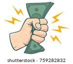 vector illustration of a fist... | Shutterstock .eps vector #759282832