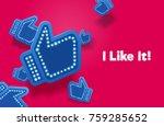 icons like social network are... | Shutterstock .eps vector #759285652