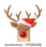 cartoon christmas illustration. ... | Shutterstock .eps vector #759286288