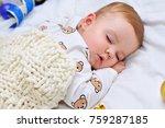 Little Baby Boy Sleeping In...