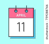 april calendar icon. flat and...
