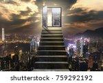 Staircase Open Door City - Fine Art prints