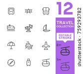 travel collection. editable... | Shutterstock .eps vector #759293782