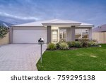 front elevation of modern style ... | Shutterstock . vector #759295138