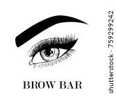 brow bar business card template.... | Shutterstock .eps vector #759299242