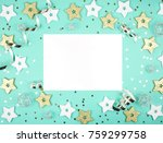 christmas decorations with snow ...   Shutterstock . vector #759299758