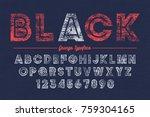 extra bold vector decorative... | Shutterstock .eps vector #759304165