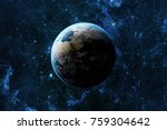 earth planet in space over... | Shutterstock . vector #759304642