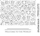 baby theme horizontal banner.... | Shutterstock .eps vector #759311572