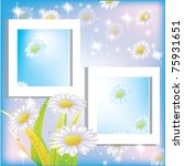 frame with flowers | Shutterstock .eps vector #75931651
