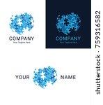 puzzle globe logo design