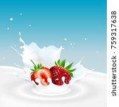 vector illustration of milk... | Shutterstock .eps vector #759317638