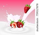 vector illustration of flowing... | Shutterstock .eps vector #759317878