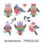 collection of birds icons ... | Shutterstock .eps vector #759322132