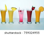 fresh fruit juice  slush  shake | Shutterstock . vector #759324955