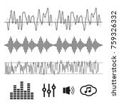 sound waves concept. sound... | Shutterstock .eps vector #759326332