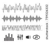 sound waves concept. sound... | Shutterstock .eps vector #759326332
