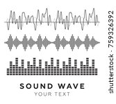 sound waves concept. sound... | Shutterstock .eps vector #759326392