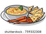 illustration on eastern dish... | Shutterstock .eps vector #759332308