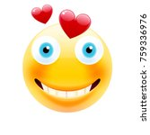 smile in love emoticon.... | Shutterstock .eps vector #759336976
