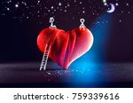 pictured boy and girl are... | Shutterstock . vector #759339616