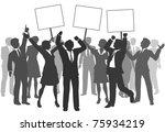 team of business men and women... | Shutterstock . vector #75934219