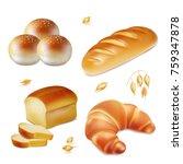 bread. realistic vector bakery...   Shutterstock .eps vector #759347878