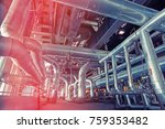 equipment  cables and piping as ... | Shutterstock . vector #759353482