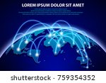 internet and global connection... | Shutterstock .eps vector #759354352
