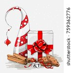 christmas still life  white... | Shutterstock .eps vector #759362776