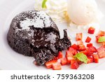 Lava Chocolate Cake With Ice...