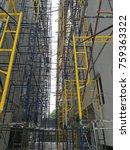 steel frame construction  steel ... | Shutterstock . vector #759363322