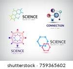 vector science logos  chemistry ... | Shutterstock .eps vector #759365602